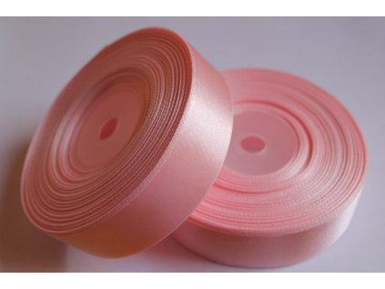 Saténová stuha 25mm A013 svetlá ružová