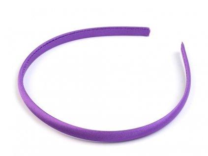 Čelenka saténová 10mm fialová