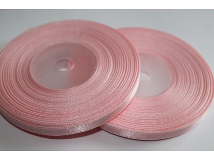 Saténová stuha 6mm A013 svetlá ružová
