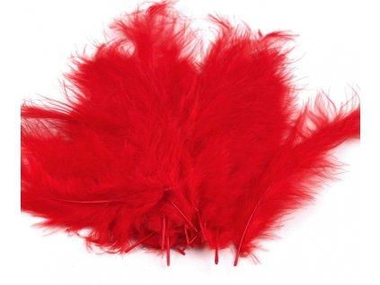 Dekoračné perie 15g červené 050