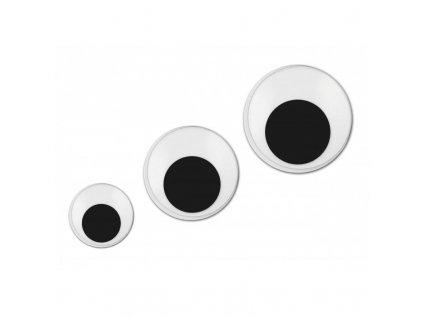Plastové oči samolepiace okrúhle 15mm/10ks