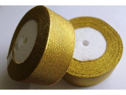 Brokátová stuha 38mm zlatá