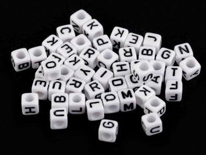 Plastové koráliky písmenká 6 mm
