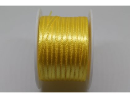 Saténová stuha 3,5mm A008 žltá