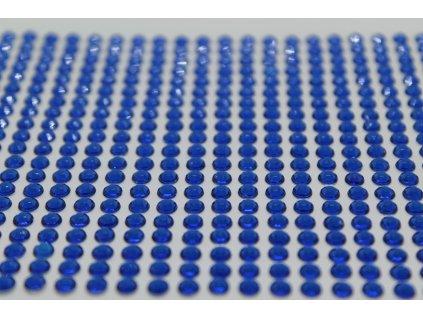 Samolepiace kamienky 4 mm kráľovské modré