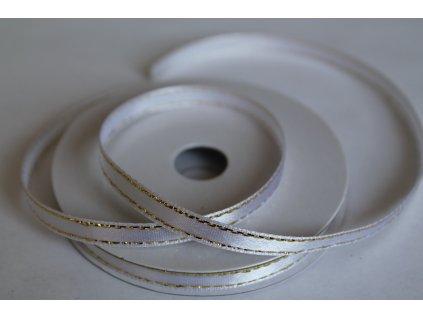 Saténová stuha so zlatým lemom 6mm 001