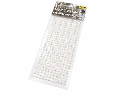 Samolepiace polperličky 4 mm biele
