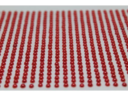 Samolepiace polperličky 3 mm červené