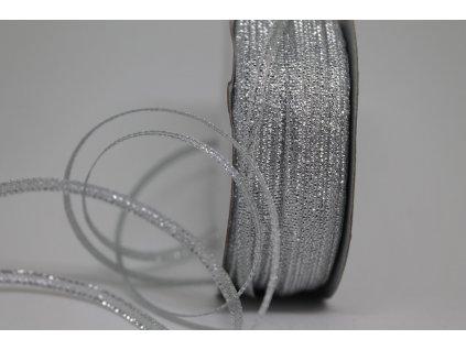 Brokátová stuha strieborná 3mm