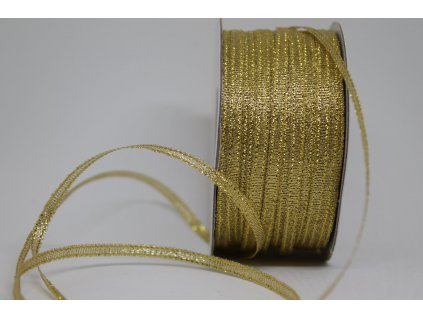 Brokátová stuha svetlo zlatá 3mm