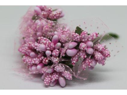 Tyčinky do kvetín s tylom 044