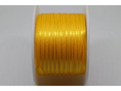 Saténová stuha 3,5mm A006 sýta žltá