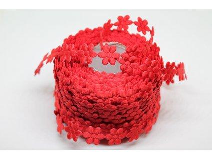 Kvietok saténový červený 15mm