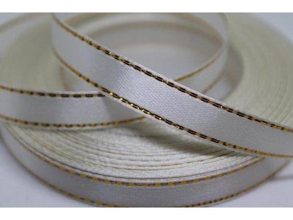 Saténová stuha so zlatým lemom 10mm 001