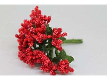 Tyčinky do kvetín s brokátom a zelenými lístkami 050