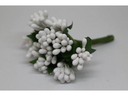 Tyčinky do kvetín so zelenými lístkami 001