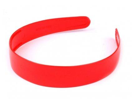 Čelenka plastová 25mm červená