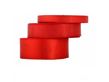 wstazka satynowa z brokatem 12mm 22mb czerwona