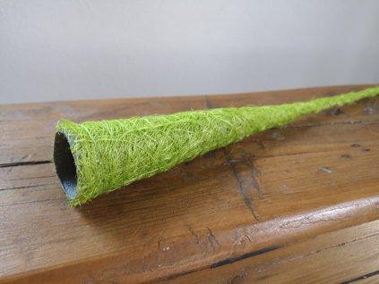 Sisalový kornútok zelený užší 40cm