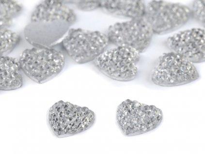 Brúsený kamienok srdce 10mm