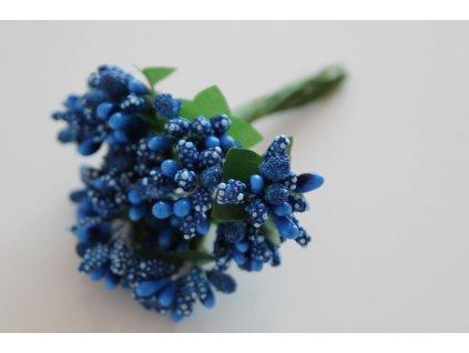 Tyčinky do kvetín s brokátom a zelenými lístkami 093