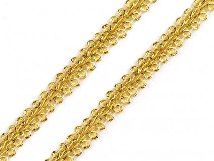 Leonský prámik 7mm zlatý