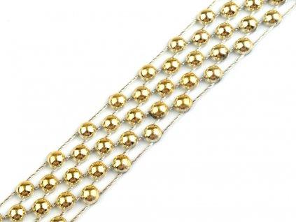 Borta s perlami 14mm zlatá