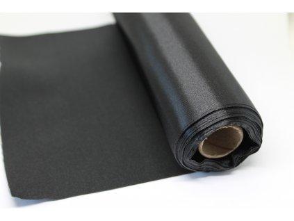 Satén v rolke 15cm/9m čierny