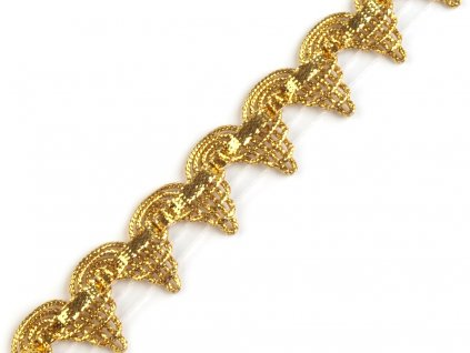 Leonský prámik zlatý 15 mm