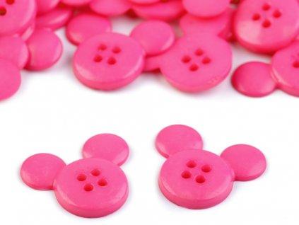 Gombík myška ružová 26,1 mm