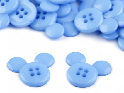 Gombík myška modrá 26,1 mm