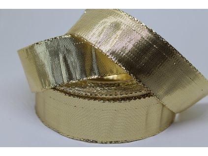 Metalizovaná zlatá stuha 25 mm