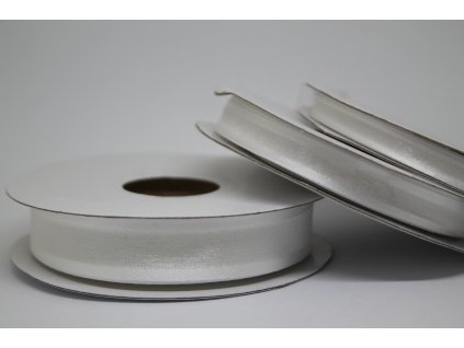Šifónová stuha biela s lemom 6mm 001