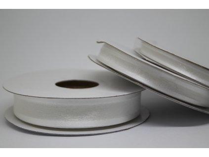 Šifónová stuha biela s lemom 15mm