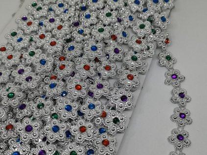 Borta 15mm kvietky s farebnými kamienkami