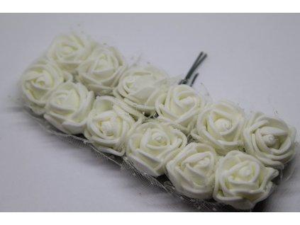 Penové ružičky bielo-krémové s tylom