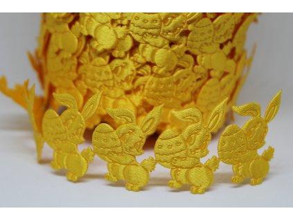 Aplikácia zajac s vajíčkom žltý