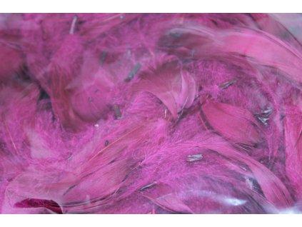 Dekoračné perie 15g bordové 060