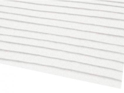 Filc tuhý 1,5 mm 001 biely