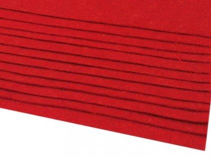 Filc tuhý 1,5 mm 050 červený