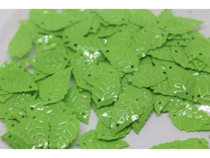 Flitre lístočky neónovo zelené 8x13mm/5g