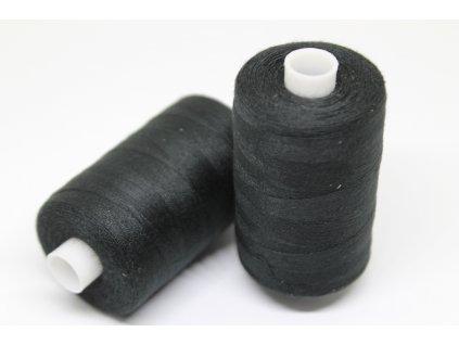 Polyesterová niť 40/2 1000y čierna