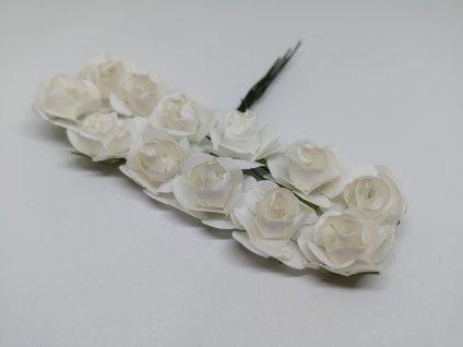 Papierové ružičky biele