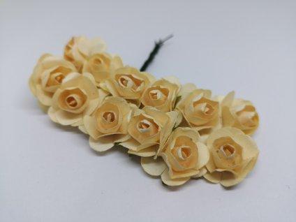 Papierové ružičky maslové