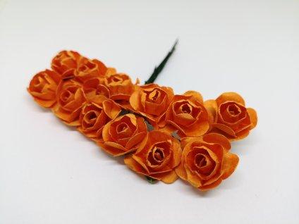 Papierové ružičky oranžové