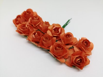 Papierové ružičky pomarančové
