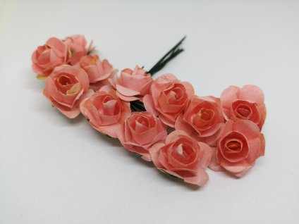 Papierové ružičky lososové
