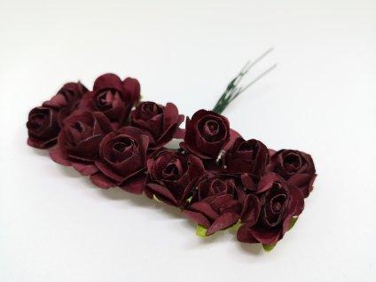 Papierové ružičky bordové