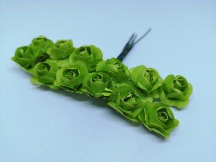 Papierové ružičky zelené