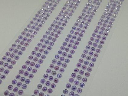 Samolepiace kamienky 5 mm fialové s AB efektom